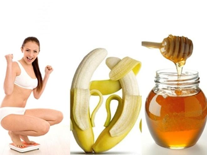 Giảm béo hiệu quả bằng chuối và mật ong
