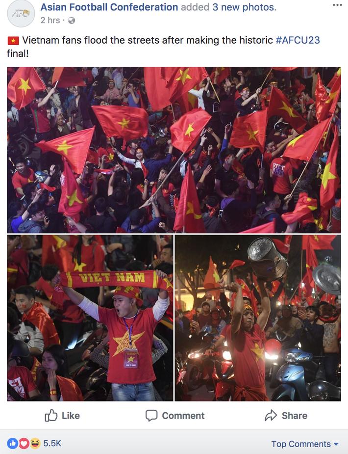 FIFA, AFC, báo châu Á đồng loạt đăng tin Việt Nam ăn mừng thâu đêm suốt sáng - Ảnh 5.