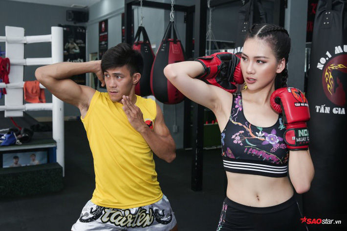 Siêu mẫu Bùi Quỳnh Hoa so găng với độc cô cầu bại Muay Thái - Ảnh 8.