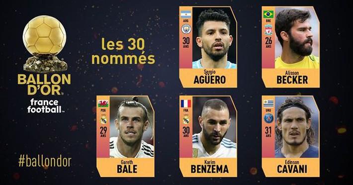 Quả bóng vàng 2018: France Football công bố 30 ứng viên - Ảnh 1.