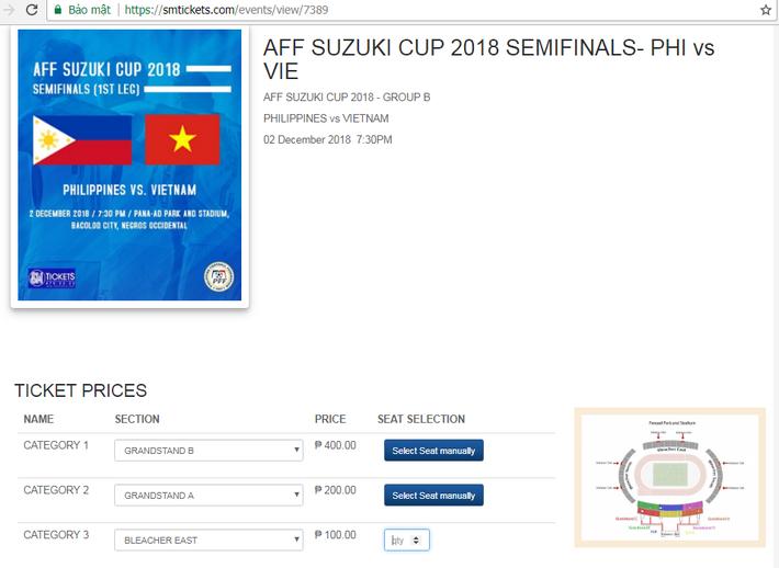 Khác với Việt Nam, khán giả tại Philippines có thể mua vé AFF Cup online siêu nhanh, chỉ trong một nốt nhạc - Ảnh 2.