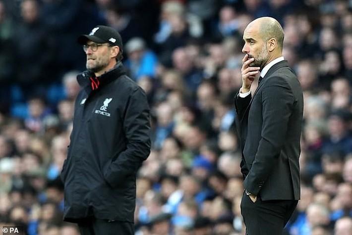 """Pep Guardiola: """"Áp lực danh hiệu sẽ là điểm yếu của Liverpool - Ảnh 1."""