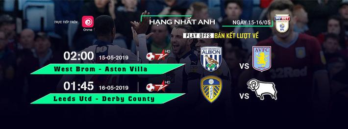 Lịch thi đấu bán kết lượt về vòng play-off tranh vé vớt lên chơi ở Ngoại hạng Anh: Bốn đội bóng tranh hai chiếc vé dự trận cầu 3 nghìn tỷ VNĐ - Ảnh 1.