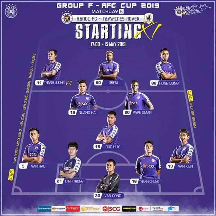TRỰC TIẾP AFC Cup 2019: Hà Nội FC vs Tampines Rovers (17h00) - Ảnh 3.