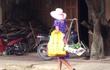 Hình ảnh chị bán rau thời trang nhất Lào Cai