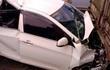 Hà Nội: Ô tô 4 chỗ bất ngờ giảm tốc ở đường trên cao gây tai nạn liên hoàn