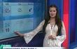 MC thời tiết gây tranh cãi khi mặc váy xuyên thấu lên sóng