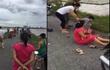 Nam Định: 2 cha con thương vong vì va phải cột điện đổ ngang đường