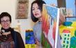 Diễn viên Hoàng Xuân mua tranh ủng hộ quỹ Thiện Nhân
