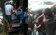 Hốt hoảng giải cứu tài xế bị kẹt chân trong ghế lái sau cú đâm mạnh của xe tải