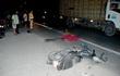 Xe máy tông chết tài xế xe tải