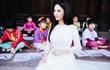 Hoa hậu Quý bà Sương Đặng dịu dàng với áo dài