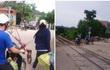 Hành động thiếu ý thức của đôi nam nữ trên đường tàu bị chỉ trích dữ đội