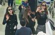 T-ara diện cây đen, DIA mặc áo dài khi đến TP.HCM