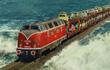 Cận cảnh tàu hỏa chạy xuyên biển - công trình vĩ đại của người Đức giống hệt như One Piece