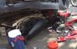 Ba xe tải va chạm dây chuyền, nạn nhân nữ nguy kịch