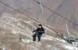 Ảnh: Bên trong khu trượt tuyết các VĐV 2 miền Triều Tiên cùng luyện tập