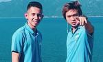 Duy Pinky cùng Tuấn Anh tạo dáng cực ngầu bên bờ biển trong ngày HAGL xuất quân thi đấu V.League 2019