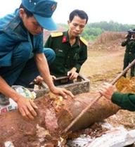 Thanh Hóa: Phát hiện 74 quả bom, mìn trong vườn nhà dân