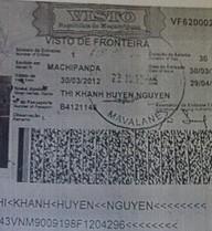 Toàn bộ ảnh visa 12 nước của Huyền Chip