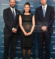 HOT: Thu Minh rạng rỡ bên cạnh David Beckham và Hoàng tử William