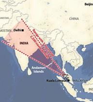 Loại bỏ khả năng máy bay mất tích đi vào không phận Ấn Độ