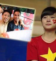 """Ba cổ động viên bóng đá Việt Nam """"bỗng dưng nổi tiếng"""""""