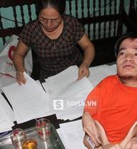 Con trai khuyết tật cắt 10 ngón tay lấy máu chấm đơn cầu cứu giúp mẹ