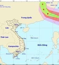 Chiều mai, tâm bão Dujuan tại đất liền tỉnh Phúc Kiến (Trung Quốc), gió giật cấp 12-13