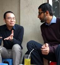 CEO Google ngồi trà chanh vỉa hè với Nguyễn Hà Đông