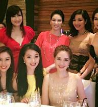 """""""Hội chị em"""" toàn Hoa hậu, Á hậu nổi tiếng của showbiz Việt"""