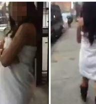 Chồng bắt vợ khỏa thân giữa phố vì gửi ảnh nude cho người khác