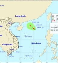 Áp thấp nhiệt đới trên Biển Đông di chuyển hướng nào?