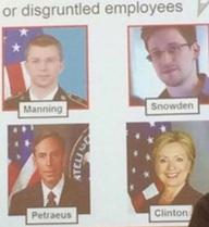 """Quân đội Mỹ coi bà Clinton là mối đe dọa về an ninh """"từ bên trong"""""""
