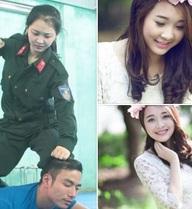 Nữ cảnh sát xinh đẹp tại Nghệ An bất ngờ nổi tiếng mạng