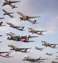 Sự thật sau những bức ảnh ghi lại cảnh tượng hàng trăm chiếc máy bay cất cánh cùng lúc
