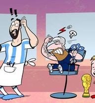 Mái tóc nhuộm bạc trắng khiến Messi phải nhận mưa gạch đá