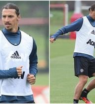 Buổi tập đầu tiên của Ibrahimovic trong màu áo MU