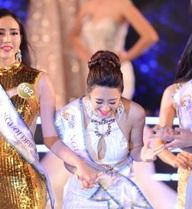 Á hậu Bản sắc Việt toàn cầu trả lời ứng xử gây cười