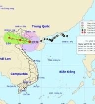 Bão số 3 giật cấp 12 đang trên vùng biển Quảng Ninh - Nam Định