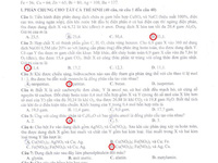 Đáp án đề thi ĐH khối A, A1 của bộ GD&ĐT