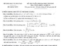 Đề thi, đáp án môn Vật lí khối A và A1 năm 2013 (cập nhật liên tục)