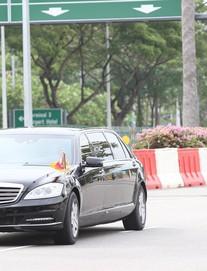 [ẢNH] Cận cảnh đoàn xe hộ tống hùng hậu của lãnh đạo Triều Tiên Kim Jong-un tại Singapore
