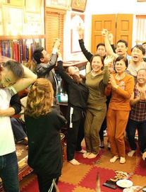 Gia đình Quang Hải vỡ òa sau bàn gỡ của U23 Việt Nam