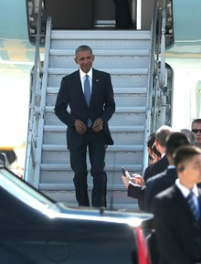 TQ đón Obama: Không xe thang, không thảm đỏ