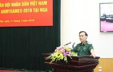 Lễ xuất quân Đoàn Quân đội nhân dân Việt Nam tham gia Army Games - 2018 tại Nga