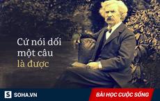 """Bị """"dội nước lạnh"""", phản ứng 10 giây của Mark Twain khiến người phụ nữ cao ngạo cúi đầu!"""