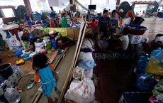 Hình ảnh cuộc sống khó khăn của người dân Marawi trong trại tị nạn
