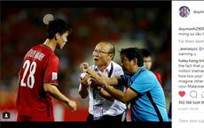 """Tài khoản cá nhân của Duy Mạnh bị CĐV Malaysia """"tấn công"""" sau trận chung kết lượt đi"""