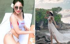 Hot girl Trâm Anh diện bikini, khoe lưng trần đầy gợi cảm